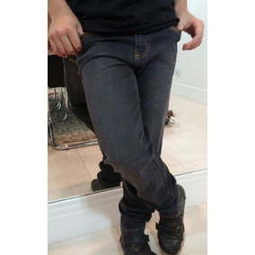 Calça Infantil Menino Sarja C Lycra Moda Garoto Moderno Slim 63ccd157428ae