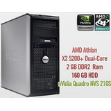 Cpu Dell 740 Athlon X2 160gb Hdd 2gb Ram Punto Venta Oficina