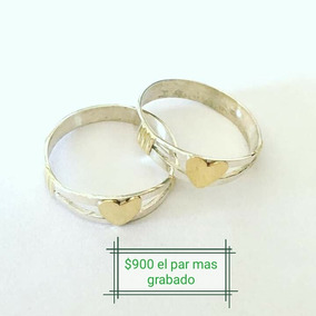 bd8bb9f328c3 Anillos De Compromiso Acero Quirurgico Y Oro - Joyas y Bijouterie en ...