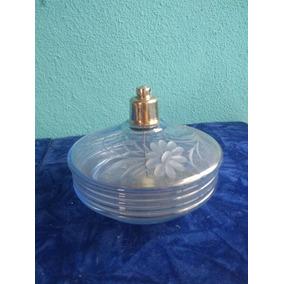 Raro Perfumeiro Antigo Em Cristal Checoslováquia