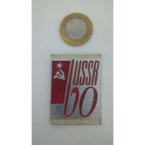 Botton Urss 60 Anos União Soviética Broche Antigo Frete Grát