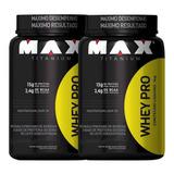 Combo 2x Whey Pro Max Titanium + Brinde Coqueteleira