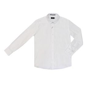 Camisa Masculino Teen Básica Manga Longa Branco