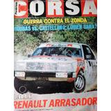 Revista Corsa Rally Renault 18 Recalde Mouras Senna Año 1984