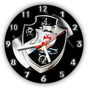 Relógio Parede Decoração Time De Futebol Vasco Da Gama 50 Cm