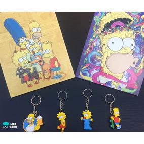 Kit Os Simpsons 2 Plaquinhas + 4 Chaveiros