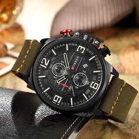 d141ff3c021 Curren Moda Esporte Homens Relógios De Quartzo 3atm Água R