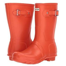 Botas De Lluvia Para Mujer Impermeables Hunter 1 Orange Md12