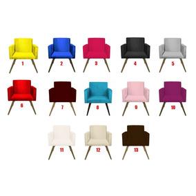 Poltrona Cadeira Beatriz Decorativ Sala Quarto Varias Cores