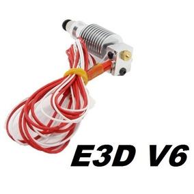 Hotend E3d V6 1,75mm Bico 0,4mm+ Teflon Ptfe + Conector