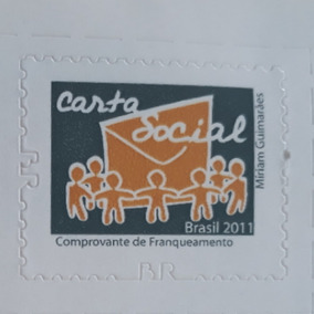 Selo Colecao R$ 0,01 Carta Social 2011