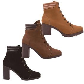 ed151f7fbd Coturno Bota Curto Feminina Bela Rafa Montaria - Sapatos no Mercado ...