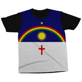 Camiseta Pernambuco Estado Brasil Bandeira Símbolo Camisa. R  89 ee5d5fe42f449