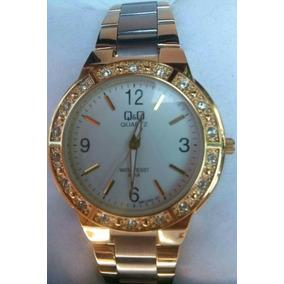 12e45c2f2b4 Relógio Dourado Original Q q Excelente Qualidade