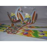 Pack 100 Cintillos Carton Pascua De Conejos