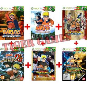 Coleção Naruto Xbox 360 Kit Com 6 Jogos Combo Leia Descrição