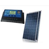Kit 2x Painel Placa 1 Controlador Solar Fotovoltaica 150w