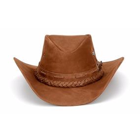 Chapéu Couro Legítimo Boiadeiro Cowboy Capelli Texano Marrom 2e4a383c580