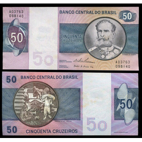 Cédula Do Brasil 50 Cruzeiros 1974 C143 Flor De Estampa L184