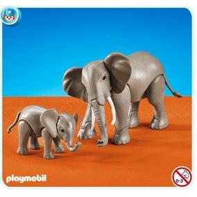 Playmobil Zoo Animais 7995 Elefantes - Elephants - Grande