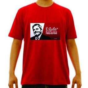 Camiseta Vermelha É Lula De Novo Eleição Pt 13 c7630724ec1bf