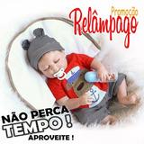 Bebê Reborn De Silicone Realista 46cm Menino/frete Grátis