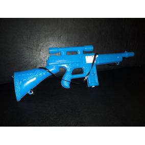 Juguete Antiguo Baltasar Sanz Arma Metralleta Azul Vintage
