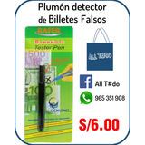 Plumon Detector Billetes Falsos