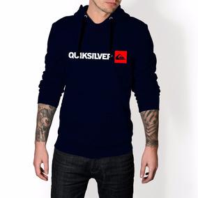 868f3cfccb93b Blusa De Frio Quiksilver Azul - Camisetas e Blusas no Mercado Livre ...