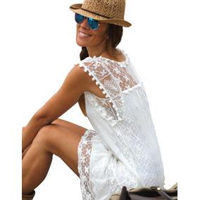 cc65099659e Estado De México · Sakura Asiatica Mini Vestido Corto Playa Encaje Crochet  Sexy