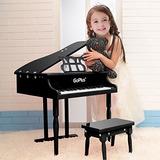 Goplus De Madera De Juguete Piano De 30 Teclas Para Niños Co