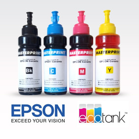 Tinta Epson Refil Bulk Ink 100ml - Masterprint - Kit 4 Cores