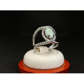 Hermoso Anillo De Plata 925 Con Opalo Y Cristales 4fc16b5