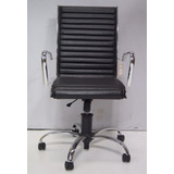 Cadeira Com Rodas Para Escritório E Computador Em Couro