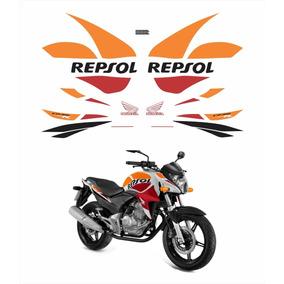 Kit Jogo Faixa Adesivo Honda Cb 300 Repsol 2015 Cb300r