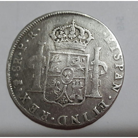 Moeda Prata México 8 Reales 1789 Carolus P.r
