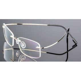 Armacao Oculos Titanio Carlos Rossi - Óculos Dourado no Mercado ... f174b51194