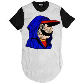 Camisa Camiseta Longline Mario Dmc Niggaz Thug Life Alongada 07474a0e2f4