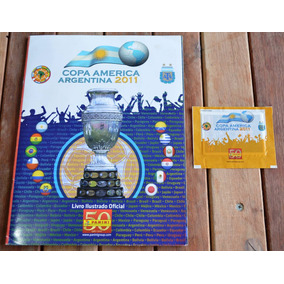 Álbum Copa América 2011 - Completo + Envelope + Fig.extras