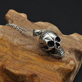 Skull Calavera Cráneo Dije Cadena Acero Inoxidable