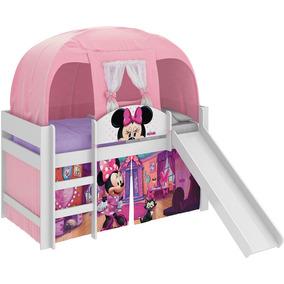 Cama Infantil Escorregador Barraca Minnie Disney Rosa Pura M
