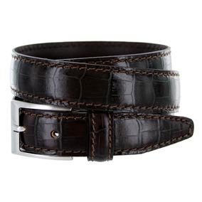 Cinturón De Vestir Hombre De Cuero Ancho Italiana