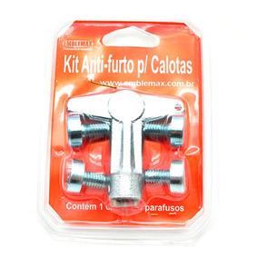 Kit Anti Furto Para Calotinhas 1 Chave 4 Parafusos 42024