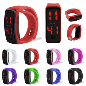 10 Relojes De Pulcera De Moda Candy Touch Digital Led Sport