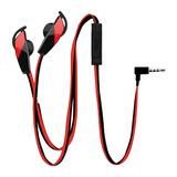 Auricular Manos Libres Con Micrófono/ha-164-red