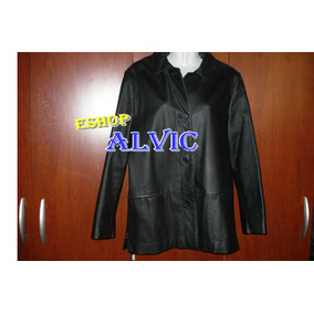 ropa Chaqueta De Cuero Negra Talla M    6cf0e9800a0a