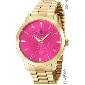 b17f62adecb Relógio Champion Feminino Aço Rosa . Cw28009h - Relógios De Pulso no ...
