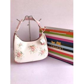 Bolsa Coach Blanca/rosa Calidad Premium