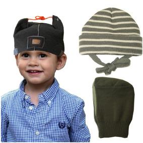 Kit Infantil Com 3 Gorros Para Meninos De 3 Meses A 2 Anos 3bda25b7369