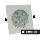 Spot Led Direcionável 12w Quadrado- Embutir -branco Frio Biv